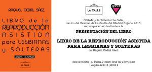 Charla Reproducción Lesbianas y Solteras COGAM Raquel Cediel Sáez