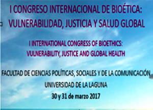 Cartel del Congreso de Bioética: vulnerabilidad, justicia y salud global